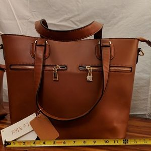 Handbags - Vegan Leather 3 in 1 Travel Handbag Set